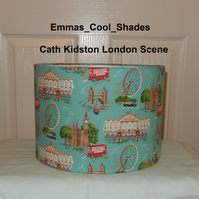 New Handmade Table Lampshade Cath Kidston London Scene - Drum 30cm