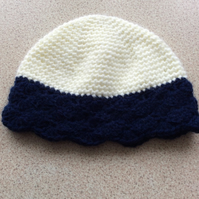 Hand made baby hat, beanie