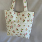 Beautiful Floral Tote Bag with External Front Pockets,  Shopping Bag, Beach Bag