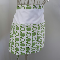 Half Apron, Teachers Apron, Vendors Apron, fully lined with extra long straps