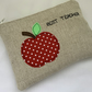 Personalised Appliqué Zipped Purse, Pouch, Cosmetic Bag, Teachers Gift