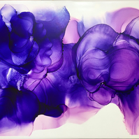 "Ink on ceramic ""Purple Haze"""