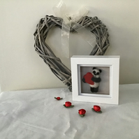 Panda with a heart 3D picture