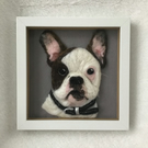 Custom order needle felted pet portrait