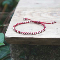 Friendship bracelet for women. Custom colours. Adjustable and waterproof.
