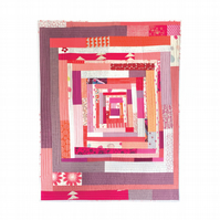 Red Log Cabin Quilt