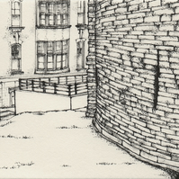 The Black Gate, Newcastle-upon-Tyne limited print from pen drawing