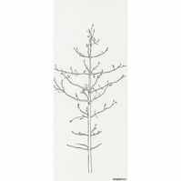 Scandinavian Pine Tree no.2 - limited edition print from pen drawing