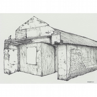 The Ropery (East) building limited edition print from pen drawing