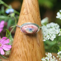 Mexican Fire Opal Ring - cantera boulder opal