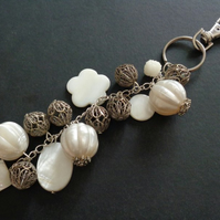 Pearlescent Beauty Unique handbag or keyring charm