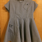 Blue check 'school dress' in vintage style for age 4