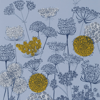 Verbena Border, original hand-pulled screen print