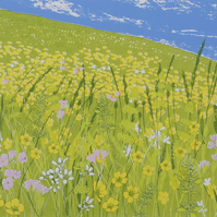 Saxifrage Meadow, original hand-pulled screen print