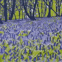 Bluebell Woods, original hand-pulled screen print