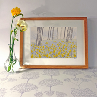 Wild Daffodils, original hand-pulled screen print