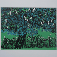 Horse Chestnut Green, original hand-pulled screen print