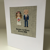 Cotton anniversary custom made wedding couple large card