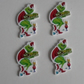 4 x The Grinch Stole Christmas Flatback Planar Resin Embellishment Decoden