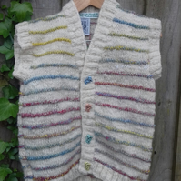 Merino Stripes Waistcoat to fit a child aged  1-2 years ago