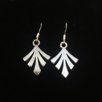 Bronte leaf 925 hook earrings