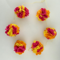 Tropical Felt Flower Garland
