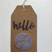 Gift Tag with Glasses and Felt Accent