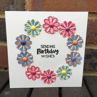 Pretty Floral Birthday Card 'For Her'