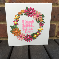 Pretty Floral Friend Card