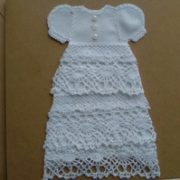 Raw Edged Applique Lace Christening Card