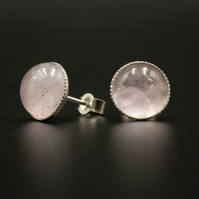 Lilac Amethyst and sterling silver stud earrings, Aquarius gift