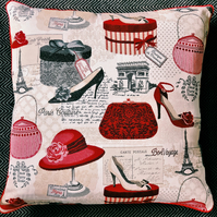 Fashion Shoes and Hats Luxury Tapestry Cushion