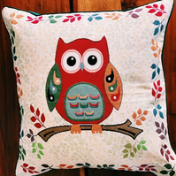 Owl Tapestry Cushion
