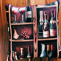 Bottle of Wine Cushion
