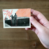 Altered Vintage Couple Photography Decorated With Posca Marker Pens