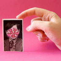 Vintage Child Photography Manipulated With Dotty Paper Confetti