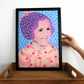 Cute Little Girl Altered Vintage Portrait Sold As A3 Fine Art Print