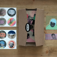 Original Surreal Art Gift Box Set With Postcards And Stickers