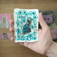 Dotty Art Collage On Recycled Cotton Rag Paper Sold As Art Gift Box Set