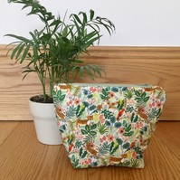 Light Green Jungle (Cats) Menagerie Collection Makeup Bag - Rifle Paper Co