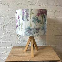 Flower Garden Watercolour Fabric Lampshade (30cm)