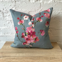 Handmade Pink Flower Blossom Cushion