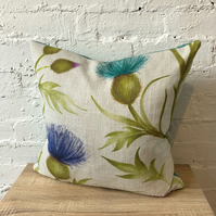 Large Scottish Thistle Cushion with Wool Back