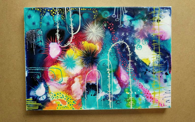 The Broke Cluster - Original Painting on Stretched canvas