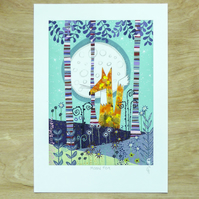 Moon Fox - Signed Giclée Print