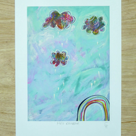 Hey Rainbow! - Signed Giclée Print