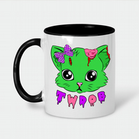Zombie Kitty Ceramic Mug