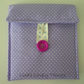 Lilac Spotty Cotton Tablet Cover, Kindle Cosy