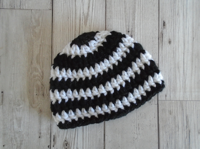 Black and White Baby Hat