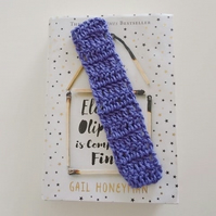 Purple Bookmark, Cotton Bookmark, Reading Accessory, Book Lover, Library Gift
